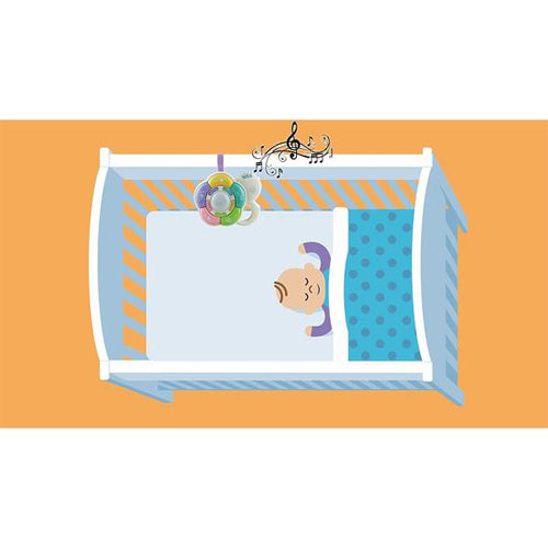 Lightahead Baby Music Crib Cot Toy with 20 songs, 5 animal sounds, 5 music tones, Nursery rhyme,