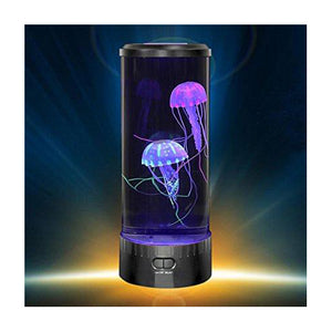 Lightahead LED Fantasy Jellyfish Lamp Round with Vibrant 5 Color Changing Light Effects, Sensory Synthetic Jelly Fish Tank Aquarium Mood Lamp