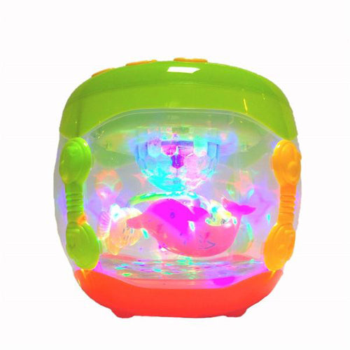 Lightahead® Electronic Touch Drum Music Flash Drum Dynamic Lamplight Toy Children's Fun Educational Toys Musical Hand Beat Drum with Flash Lights for Baby Toddlers