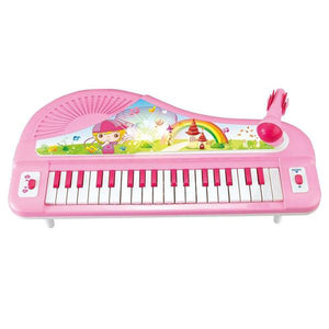 Lightahead 37 Keys Electronic Organ Keyboard Piano with Microphone - Pink