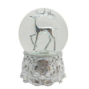 Lightahead 100MM Reindeers Musical Snow Globe Ball with Iron base and Rotating playing tune Table Top Decoration (Reindeer Single)