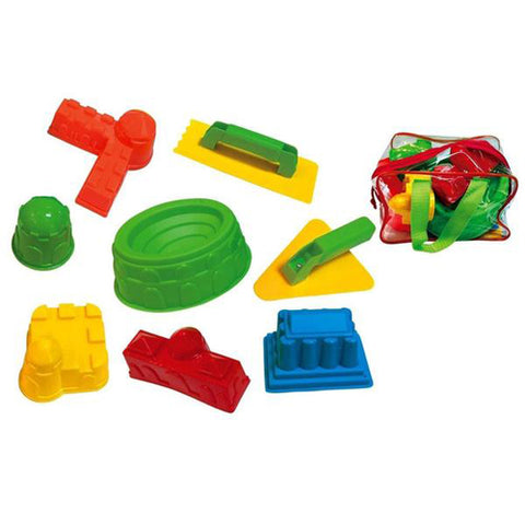 Lightahead 8 pcs Beach Sand Pit Castle Tools Set, Fun Toys Playset for Kids in reuseable zipper bag