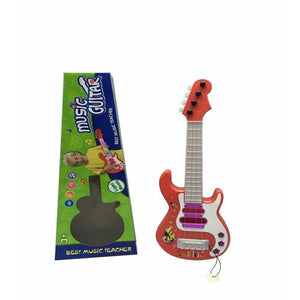 Lightahead Mini Flashing Guitar With Preset Music Fun Tunes, Musical Activity Toy for Kids, Baby,Toddlers & Children