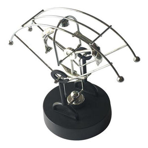 Lightahead Magnetic Swing Kinetic Art Balancing Toy in Perpetual Motion Decoration for Home & Office (Dolphin)