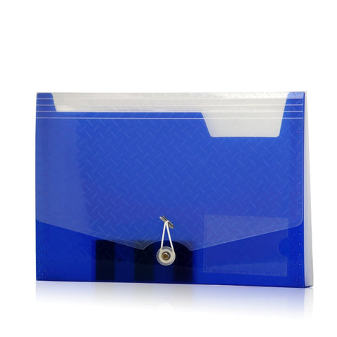 Lightahead LA-7558 Expanding file Folder with 6 pockets Available in Colors Blue, Pink, Green