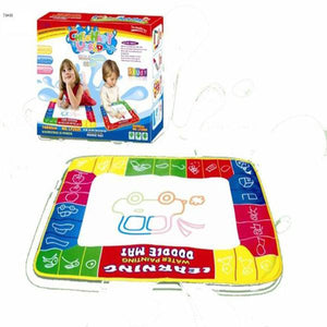 Lightahead Portable Folding Mat Board with 4 color Magic Pen & Foam Cut Out shapes For Kids