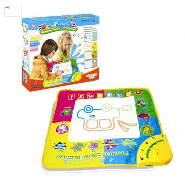 Lightahead All New Water Doodle Music & Light 2 in 1 Mat. 3 Color Children Water Drawing Mat Board