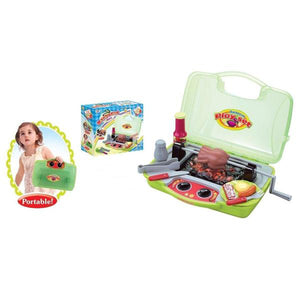 Lightahead Barbecue Play Set For Kids with Light and Real Sound Portable Barbecue Playset