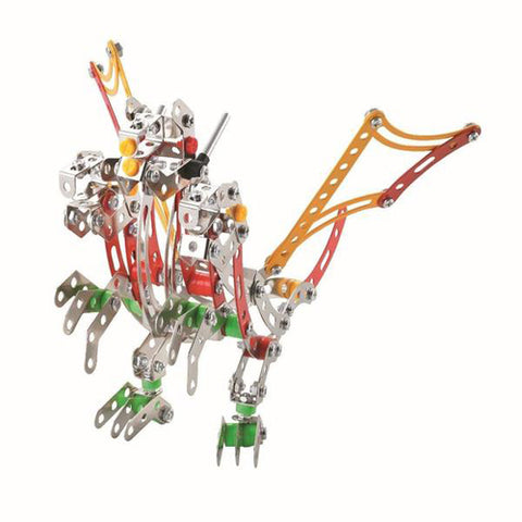 Lightahead Assembly Metal Dragon Model Kits Toy Dragon to Assemble. Puzzles Set for Kids, 275 pcs metal blocks