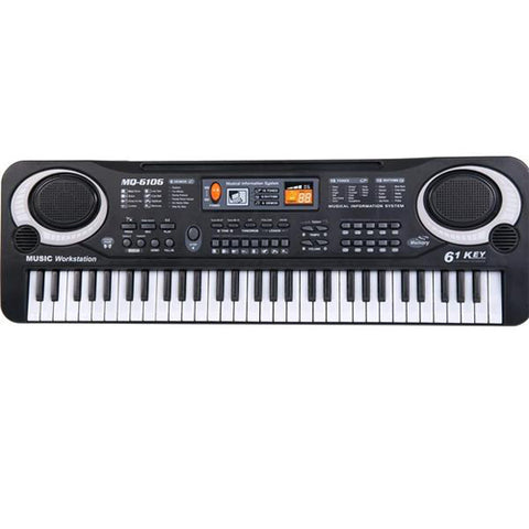 Lightahead 61 Keys Portable Electronic Keyboard Piano with Microphone, Multi-function Digital Music for all Ages