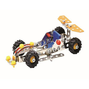 Lightahead Assembly Metal Racing Car Model Kits Toy Vehicle toy to Assemble. Puzzles Set for Kids, 108 pcs metal blocks