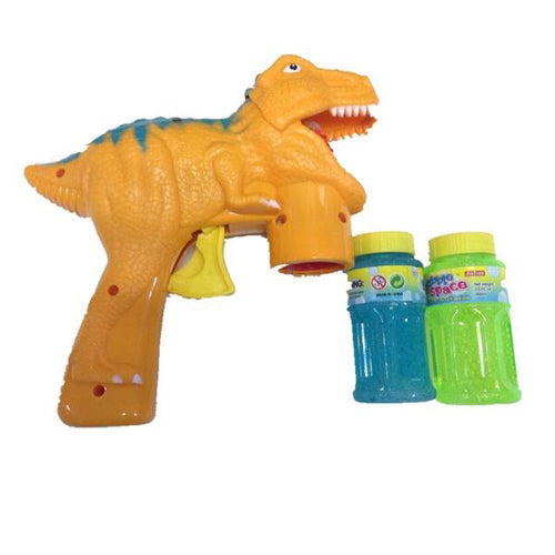 Lightahead Dinosaur Bubble Shooter Gun Light Up Bubbles Blower with light, music Dinosaur Toys