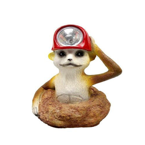 Lightahead Solar Powered Animal Chipmunk Light for Christmas Elves, Holiday Decoration Path Lamp