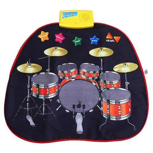 Lightahead Folding Step & Play Walk on Jazz Drum Musical Mat with Touch Play Keyboard for Children & Kids to Dance ,walk or crawl On .
