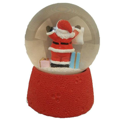 Lightahead Santa Checking his List Christmas Musical Snow Globe Water Ball with Music Playing (Santa)