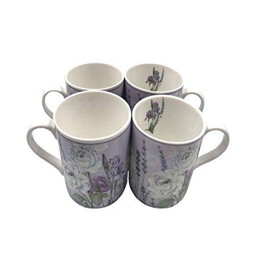 Lightahead Elegent Bone China Coffee Mug set of 4, in a reusable handmade gift pack