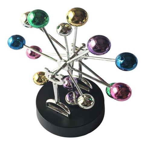 Lightahead Magnetic Swinging Balance Balls in Electronic Perpetual Motion Decoration Kinetic Art Asteroid (multi color balls)
