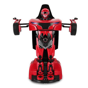 Lightahead Remote Controlled Transformable Robot Car, One key Transformation, The Perfect Gift For Kids! (RED)