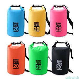Lightahead® Waterproof Dry Bags 20L With Free Waterproof Cellphone Case (Blue)