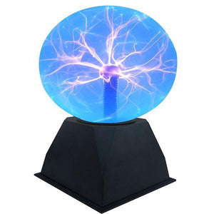 "Lightahead 6"" Plasma Ball Lamp crystal Blue color globe design Touch sound sensitive"