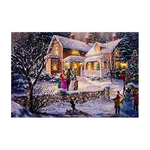 Lightahead® Singing Carols.A Fiber Optic Christmas Tapestry with Blinking Lights 13 x 18 inch Picture wall Hanging GREAT CHRISTMAS DECORATION AND GIFT