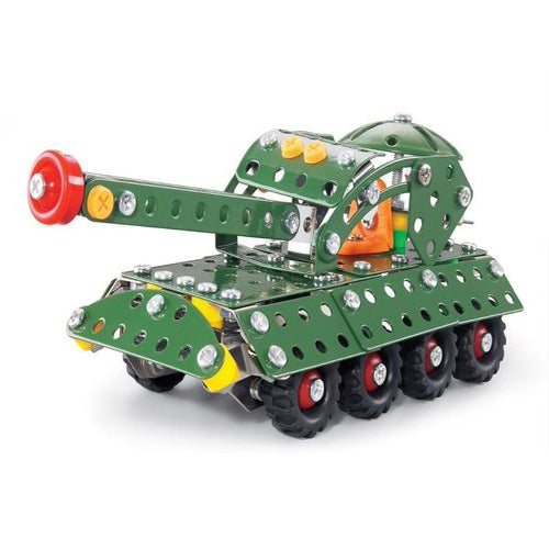 Lightahead Assembly Metal Military Tank Model Kits Toy War Tank to Assemble. Puzzles Set for Kids, 215 pcs metal blocks