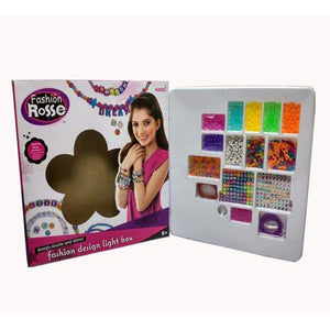 Lightahead DIY Beading Toy Set with Letters. Fashion Design Spell and Wear Jewellery