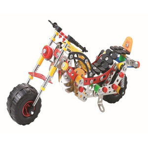 Lightahead Assembly Metal Motorcycle Model Kits Toy Mo Bike to Assemble. Puzzles Set for Kids, 257 pcs metal blocks