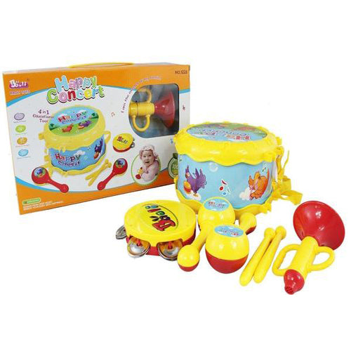Lightahead 4 in 1 Musical Instrument Set Drum Set Music Band Educational tool For Kids and Toddlers