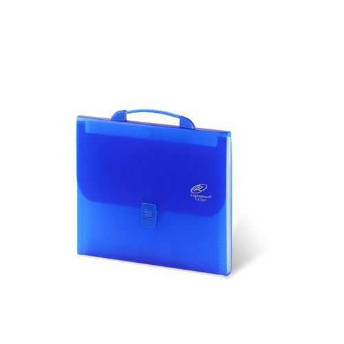 Lightahead® LA-7557 Expanding File Folder with handle and insert button with 12 pockets. Available in Colors Blue, Pink,Green & Black