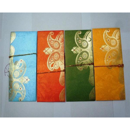 Lightahead gift envelope card money holder fancy packet for wedding anniversary etc (set of 5)