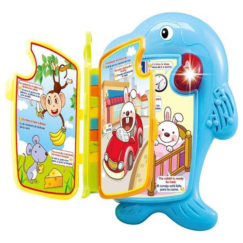 Lightahead Dolphin Learning Book with Music and Light in English and Spanish