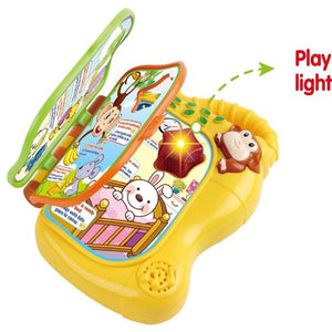 Lightahead Monkey Learning Book with Music and Light in English and Spanish with Music and sounds for Kids Toddlers