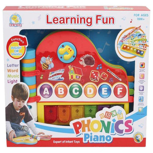 Lightahead Speech Learning machine toy with light and music in Spanish Phonics Piano .Make Learning Fun for Kids Toddlers