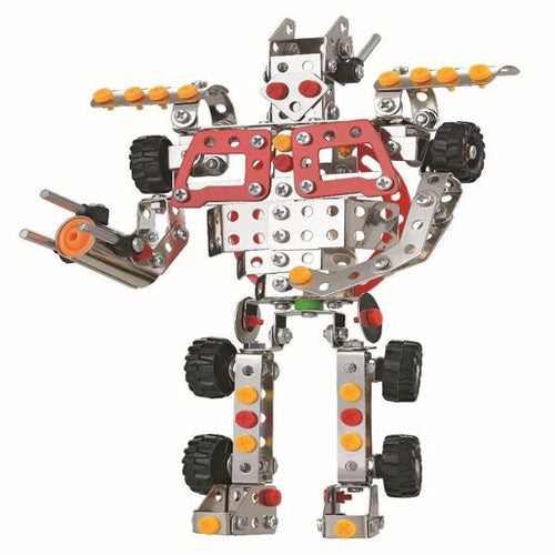 Lightahead Assembly Metal Robot Model Kits Toy Robot to Assemble. Building Puzzles Set for Kids, 317 pcs metal blocks