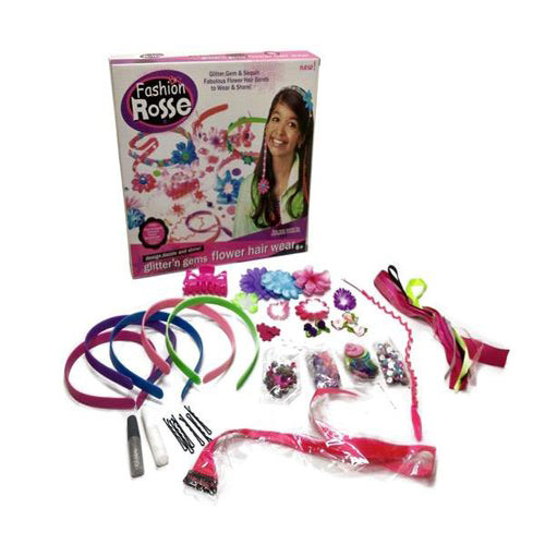 Lightahead DIY Bead Toy set Glitter, Gem & Sequin .Make your own Fabulous Flower Headbands, Friendship bands,Braclets,Neckalce & More. Fun to wear and share