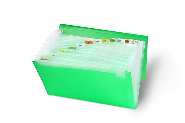 Lightahead LA-7551 Expanding file Folder with 13 pockets (Green)