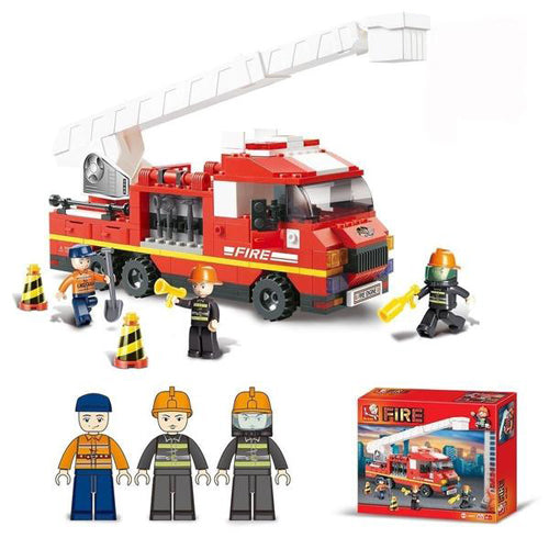 Lightahead Firemen Building Block Toy with Fire Truck,Fire Fighters,FireEngine DIY for Kids (270 Pc)