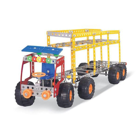 Lightahead Assembly Metal Model Kits 5 in 1 Truck kit series Toy Building Puzzles Construction Play Set, 579 pcs metal blocks can make 5 designs (5 Different Construction Trucks Can Be Made)