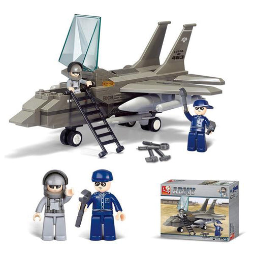 Lightahead Airforce Airplane and mini Figures Toy Building Blocks Set Educational For Kids (142 pc)