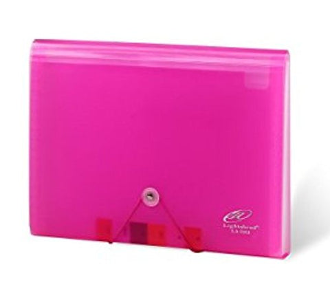 Lightahead LA-7551 Expanding file Poly Folder with 13 pockets (Pink)
