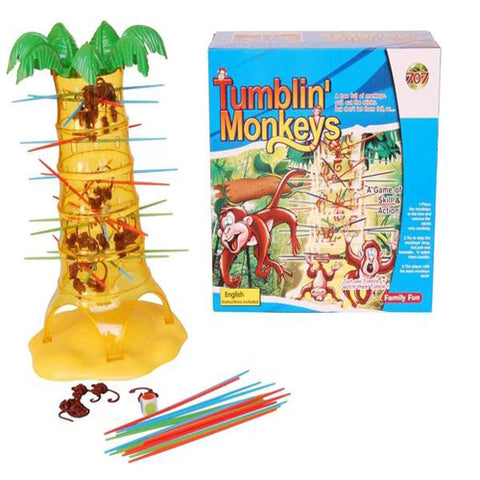 Lightahead Tumbling Monkeys Game. A Board game of Skills and Action that's Fun to Play, for 2 to 4 Players.
