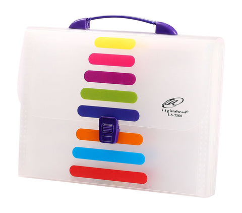 Lightahead LA-7568 Expanding File Folder with handle and insert button with 13 pockets. as pictured