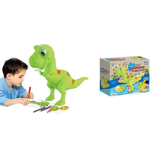 Lightahead 2 in 1 Dinosaur Projector Set Drawing and Learning Projector Painting Toy for Kids with 6 picture discs each with 3 Lantern Slides 12 water color pens Great Holiday Gift for Kids