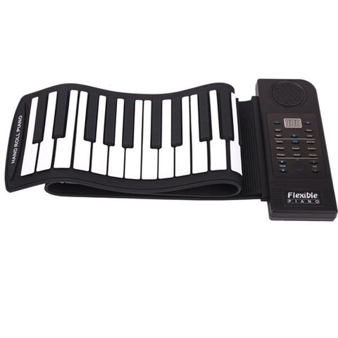Lightahead Portable 61 Keys Roll-Up Electronic Piano Keyboard,Soft Keys Synthesizer Built-in Speaker