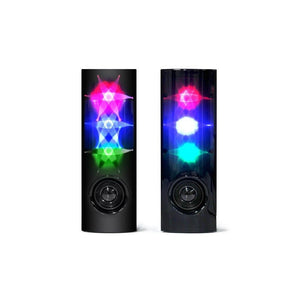 Lightahead New Atake The Flash 2.0 Channel Multi Media Speakers 3D Flash LED Light Up, Line in USB Speaker Compact Twin 3W+3W Speaker System for Laptop PC, Smart Phones, iPOD, Game players