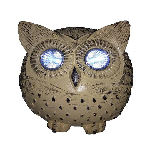 Lightahead Solar Owl Light Poly Resin Owl with LED Eye Powered by Solar Light for Park, Patio, Deck, Yard, Garden, Home, Pathway, Outside Landscape for Decoration and Celebration