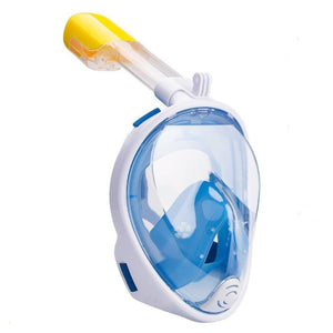 Lightahead 180° Full Face Snorkel Diving Mask Anti-Fog Anti-Leak Easy Breath Design(S/M-BLUE)