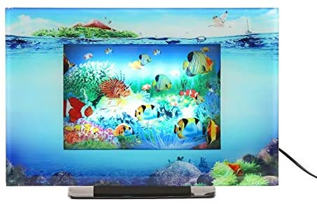Lightahead LCD Scenery Artificial Tropical Fish Aquarium Decorative Lamp Virtual Ocean in Motion