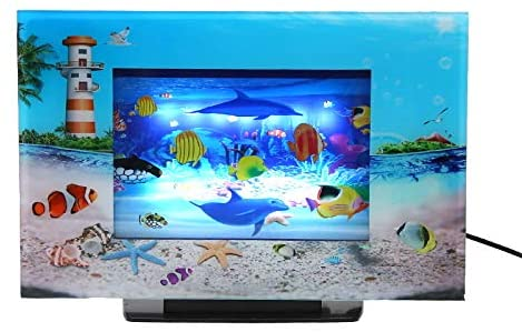 Lightahead LCD Scenery Artificial Tropical Dolphin Aquarium Decorative Lamp Virtual Ocean in Motion